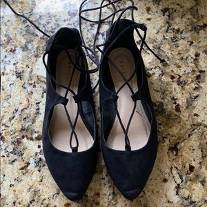 Bamboo lace up flats